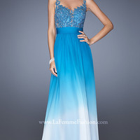 Floor Length Ombre La Femme Prom Dress 19763