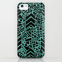Up/Down (mint) iPhone & iPod Case by Nick Nelson