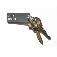 The Sorority House Key Tag - Zeta Tau Alpha