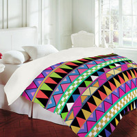DENY Designs Home Accessories | Bianca Green Zig Zag Duvet Cover