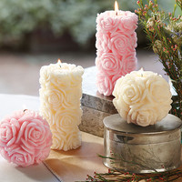 Napa Valley Rose Candles - Table Accessories - Tabletop - NapaStyle