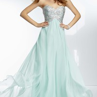 Full Length Strapless Open Back Dress