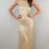 Sleeveless Sequin Gown for Prom