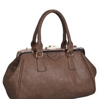Brown Docc Top-Handle Handbag