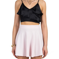 Rehab Clothing - Ruffle Satin Cropped Cami