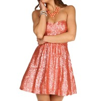 Jazzlynn- Coral Short Prom Dress