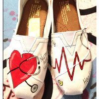 Nursing Custom Toms shoes / design 2