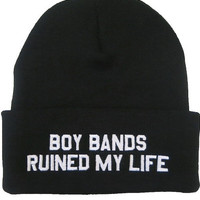 Boy Bands Ruined My Life Beanie