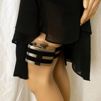 Flask Garter WITH FLASK Black by GartersByLori on Etsy