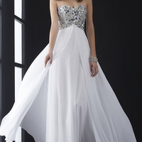 Jasz Floor Length Strapless Prom Dress