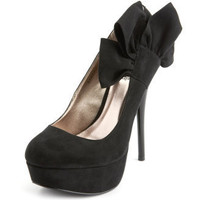 Charlotte Russe - Sueded Side-Bow Pump