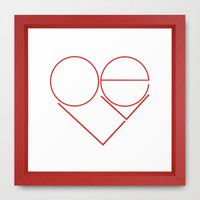 MODERN LOVE Framed Art Print by RichCaspian
