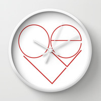MODERN LOVE Wall Clock by RichCaspian