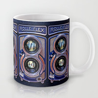 classic retro Rolleiflex Dual lens camera iPhone 4 4s 5 5c, ipod, ipad, tshirt, mugs and pillow case Mug by Three Second
