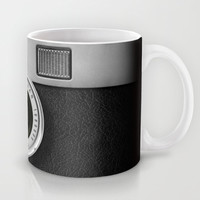 classic retro Black silver Leica M9 Leather camera iPhone 4 4s 5 5c, ipod, ipad case Mug by Three Second