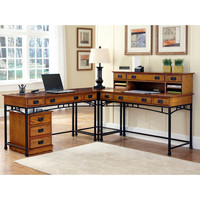 Home Styles Modern Craftsman Corner Desk & Mobile File Cabinet