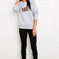 Obey Cheetah Font Sweatshirt in Grey - Urban Outfitters