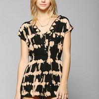 Ecote Eden Tie-Dye Romper - Urban Outfitters