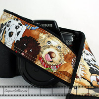 dSLR Camera Strap, SLR, Cartoon Dogs, Dalmatian, Poodle, Yellow Lab, 40-4