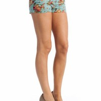 floral printed shorts $19.60 in BLACK MINT TAUPE - New Shoes | GoJane.com