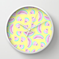 Summertime Wall Clock by Lisa Argyropoulos