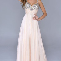 Full Length Sweetheart Evening Gown