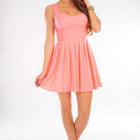 This Heart Of Mine Dress: Light Neon Pink | Hope's