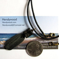 Beach Stone Surfer Necklace River Rock Pendant Vertebra Fossil Bone Eco Friendly Natural Handmade Jewelry by Hendywood