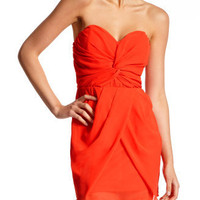 Charlotte Russe - Chiffon Twist-Front Dress