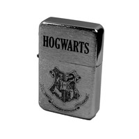 Lighter - Hogwarts Alumni Brushed Chrome Windproof (Engraved by Hip Flask Plus)