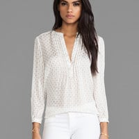 Marc by Marc Jacobs Mini Diamond Crinkle Blouse in Antique White