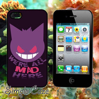 Gengar Pokemon,Accsessories,Case,Cell Phone,iPhone 4/4S,iPhone 5/5S/5C,Samsung Galaxy S3,Samsung Galaxy S4,Rubber/612Q15