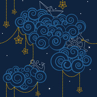 Nautical Skies - swissette - Spoonflower