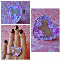 Gold Unicorn - Adjustable Ring for trendy girl