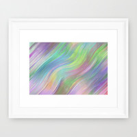 COLOUR WAVE Framed Art Print by Catspaws