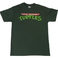 Mens Teenage Mutant Ninja Turtles TMNT Logo T-shirt