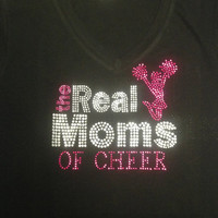 Real Moms of Cheer Rhinestone Tank Top/T-shirt/Sweatshirt