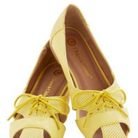 Touring Harbor Town Flat in Yellow | Mod Retro Vintage Flats | ModCloth.com