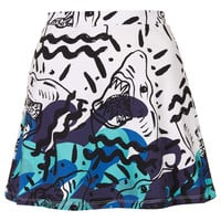 **OCEAN SHARK CIRCLE SKIRT BY ILLUSTRATED PEOPLE
