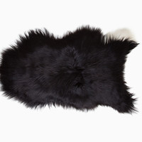 Totokaelo - Black Sheep (white light) Icelandic Sheepskin 60 - $220.00