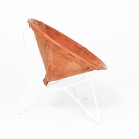 Totokaelo - Garza Round Lounge Chair-Saddle Leather - $1,550.00