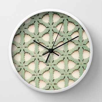 Jade Lattice Wall Clock by CMcDonald