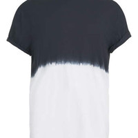 BLACK HALF N HALF T-SHIRT - Sale