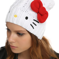 Hello Kitty Bow Slouch Beanie