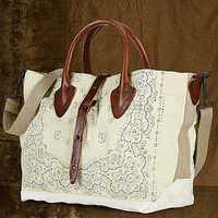 Denim & Supply Ralph Lauren Bandana-Print Leather-Trim Convertible Tote