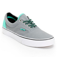 Vans Era Grey & Electric Green Canvas Shoe