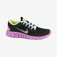 Nike Free 5.0 3.5y-7y Girls' Running Shoes - Black