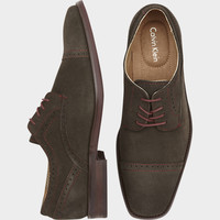 CALVIN KLEIN HANCOCK GRAY OXFORD SHOES