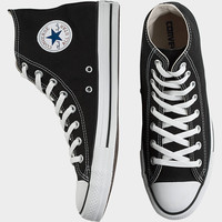CONVERSE BLACK CANVAS HIGH-TOP TENNIS SHOES