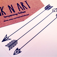 3pcs Arrows Tattoo - InknArt Temporary Tattoo Set - pack tattoo quote wrist ankle body sticker anchor fake tattoo
